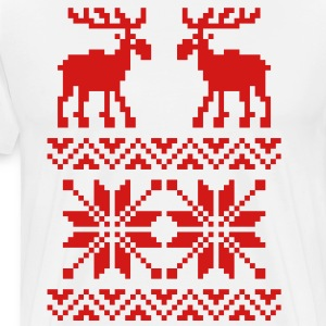 Ugly Moose Pattern Christmas Sweater - Men's Premium T-Shirt