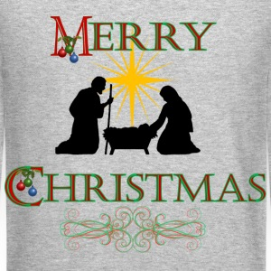 Merry Christmas Nativity Sweatshirt - Crewneck Sweatshirt