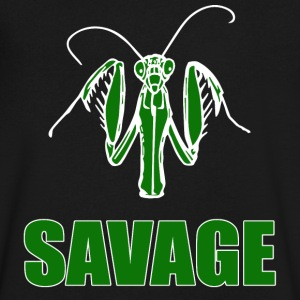 Savage Praying Mantis - Men's V-Neck T-Shirt by Canvas
