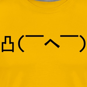 Angry Japanese Emoticon T-Shirts - Men's Premium T-Shirt