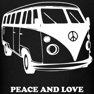 PEACE AND LOVE T-Shirts - Men's T-Shirt