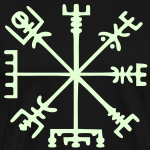 Vegvísir (Viking Compass) / Glow in the Dark - Men's Premium T-Shirt