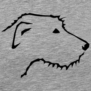 Irish Wolfhound head T-Shirts - Men's Premium T-Shirt