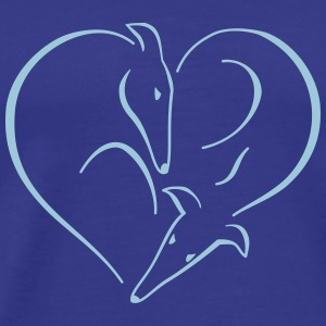 Sighthound heart T-Shirts - Men's Premium T-Shirt