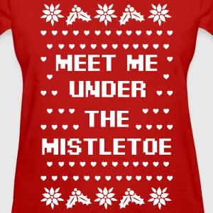 Meet Me Under The Mistletoe Women's T-Shirts - Women's T-Shirt