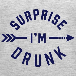 SURPRISE I'M DRUNK Tanks - Women's Premium Tank Top