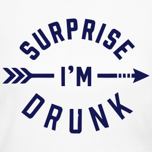 SURPRISE I'M DRUNK Long Sleeve Shirts - Women's Long Sleeve Jersey T-Shirt