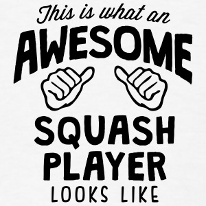 awesome squash player looks like T-SHIRT - Men's T-Shirt
