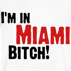I m in Miami Bitch! (2009) T-Shirts - Men's V-Neck T-Shirt by Canvas