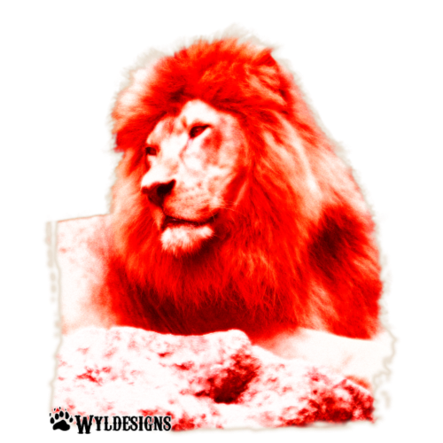 Lion Cutout Red