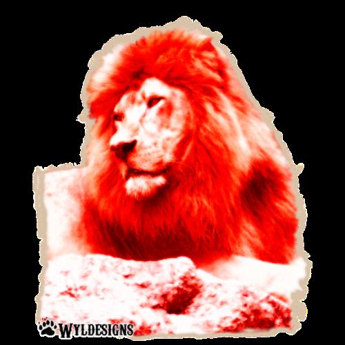 Lion Cutout Red