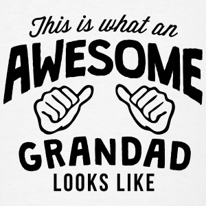 this is what an awesome grandad looks li T-SHIRT - Men's T-Shirt