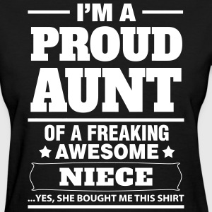 I'm A Proud Aunt Of A Freaking Awesome Niece Women's T-Shirts - Women's T-Shirt