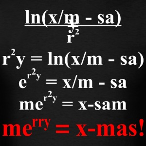 Math Equation Merry Christmas - Men's T-Shirt