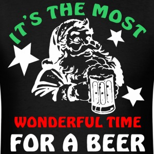 Its The Most Wonderful Time For A Beer Christmas - Men's T-Shirt