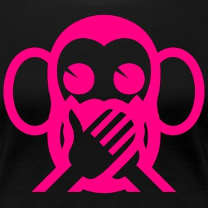 3 Wise Monkeys Iwazaru 言わざる Speak NO Evil Emoji Women's T-Shirts - Women's Premium T-Shirt