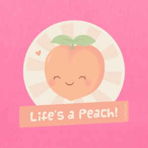 Cute Life is a Peach Bags & backpacks - Tote Bag