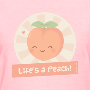 Cute Life is a Peach Women's T-Shirts - Women's T-Shirt
