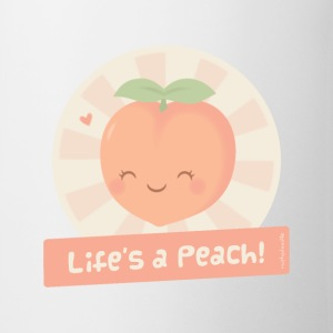 Cute Life is a Peach Mugs & Drinkware - Coffee/Tea Mug