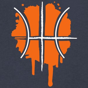 Basketball graffiti T-Shirts - Men's V-Neck T-Shirt by Canvas