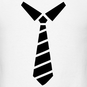Collar and Tie Print T-SHIRT - Men's T-Shirt
