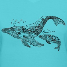 South Seas Women's Singing Whales T shirt