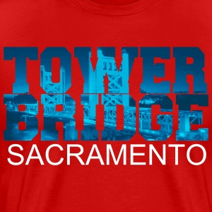 Sacramento Bridge in blue letters T-Shirts - Men's Premium T-Shirt