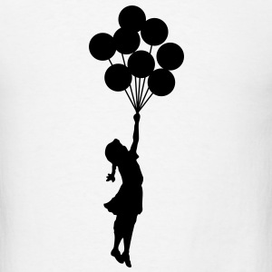Banksy Floating Away Balloon Girl T-SHIRT - Men's T-Shirt
