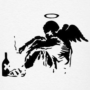 Banksy Fallen Angel T-SHIRT - Men's T-Shirt