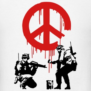 Banksy CND Peace Sign Soldiers T-SHIRT - Men's T-Shirt