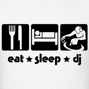dj02a eat sleep dj T-SHIRT - Men's T-Shirt