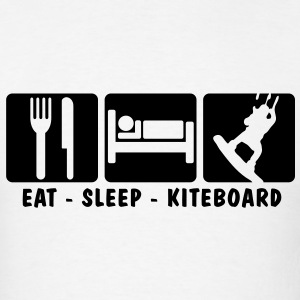 ks02 eat sleep kiteboard T-SHIRT - Men's T-Shirt