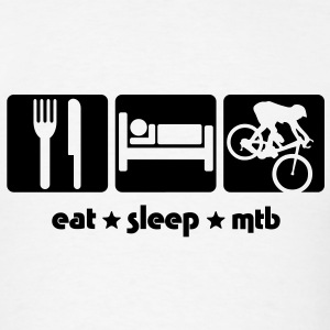 mb02a  eat sleep mtb T-SHIRT - Men's T-Shirt