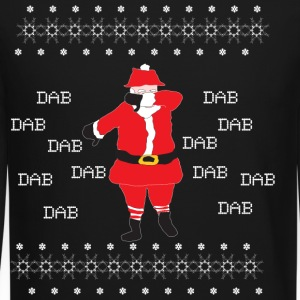 Dabbing Santa Claus Ugly Christmas Sweater - Crewneck Sweatshirt