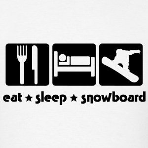 sb02a eat sleep snowboard T-SHIRT - Men's T-Shirt