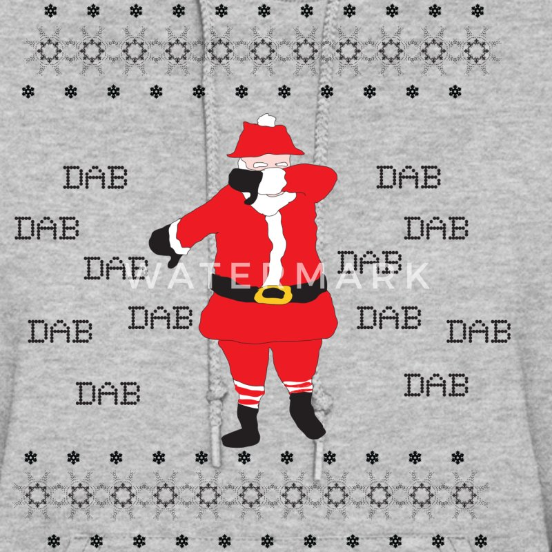 Dabbing Santa Claus Ugly Christmas Sweater - Women's Hoodie