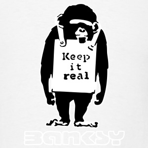 ba07 keep it real monkey T-SHIRT - Men's T-Shirt