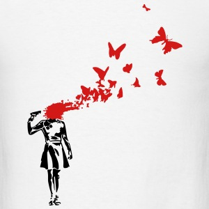 banksy butterlies T-SHIRT - Men's T-Shirt