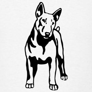 dog breed bull terrier T-SHIRT - Men's T-Shirt