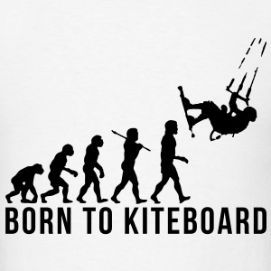 kiteboarding evolution born to kiteboard T-SHIRT - Men's T-Shirt