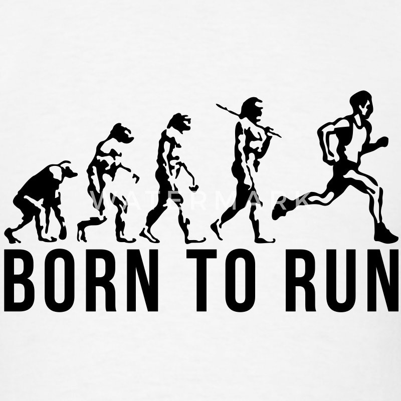 running evolution born to run T-SHIRT - Men's T-Shirt