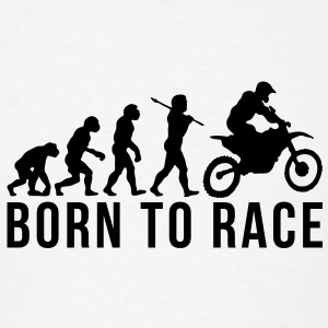 motocross evolution born to race T-SHIRT - Men's T-Shirt