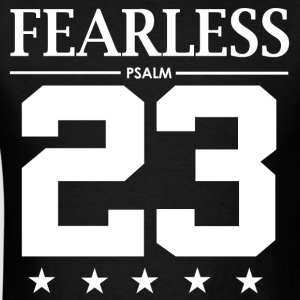 Fearless Psalm 23 - Bible Verse Quote - Men's T-Shirt