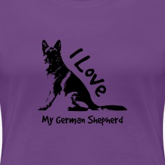 i love my german shepherd Women's T-Shirts