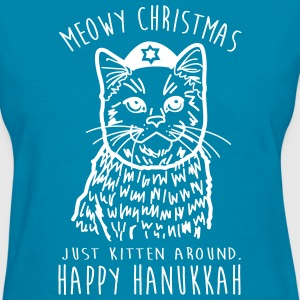 Meowy Christmas  - Women's T-Shirt