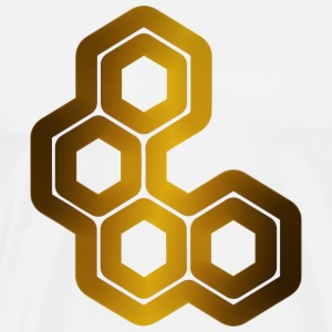 Hexagons Inside Hexagons - Men's Premium T-Shirt