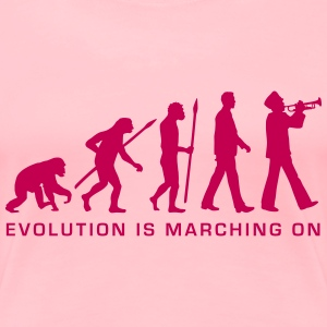 evolution marching band trumpet player_112015_b_1c Women's T-Shirts - Women's Premium T-Shirt