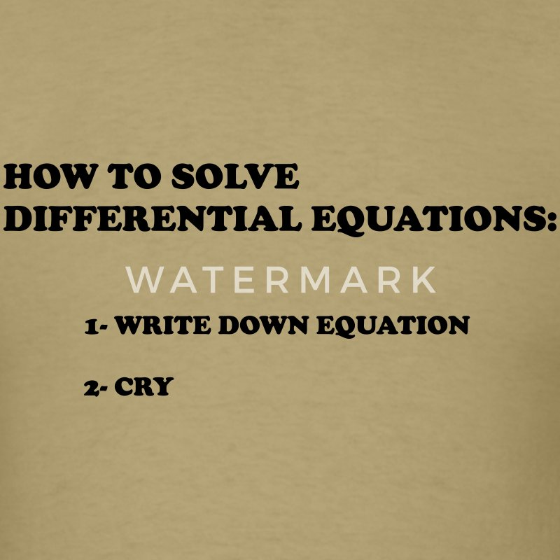 differential equations - Men's T-Shirt
