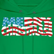 Design ~ Merry Christmas USA! American Men's Freedom Hoodie