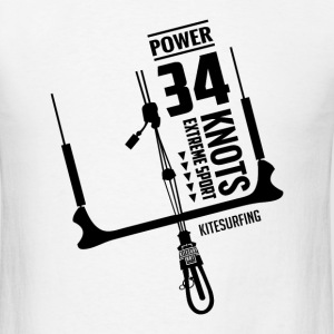 Power 34 Knots Kitesurfing Black - Men's T-Shirt